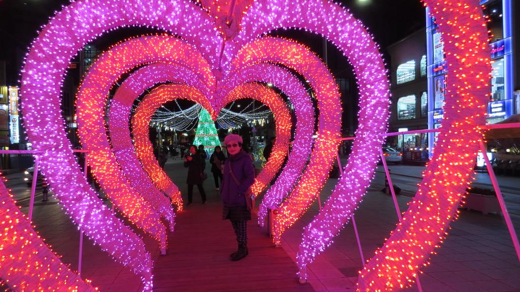 2018년 12월26일 밤 해운대 빛축제입니다.